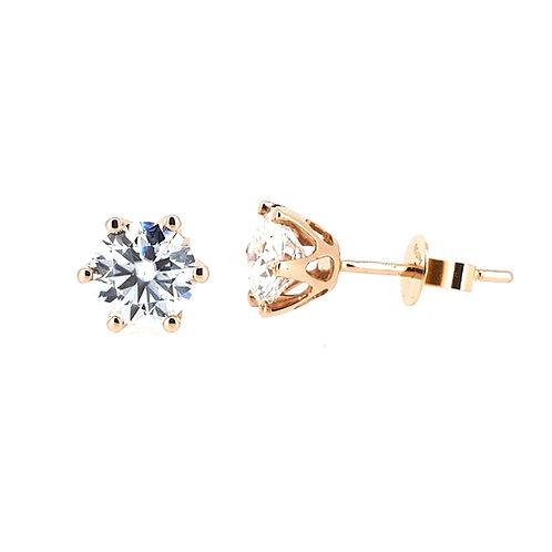 Moissanite rose gold earrings 1.6ctw