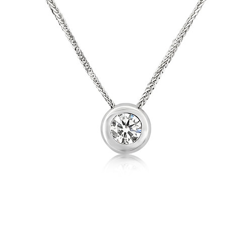 Moissanite necklace 0.5ct