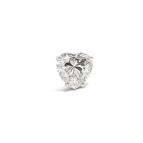 心形莫桑石耳環(單只0.5-1.5卡)