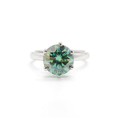 Blue Moissanite Ring 1.5cts