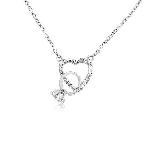 Moissanite 18K Necklace 0.4ctw