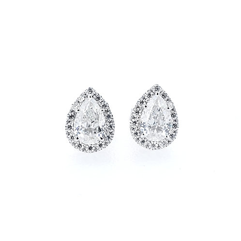 Pear-shaped Moissanite Earrings 1.2ctw