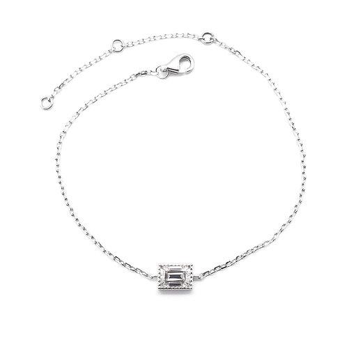 Emerald-cut Moissanite bracelet 0.5ct