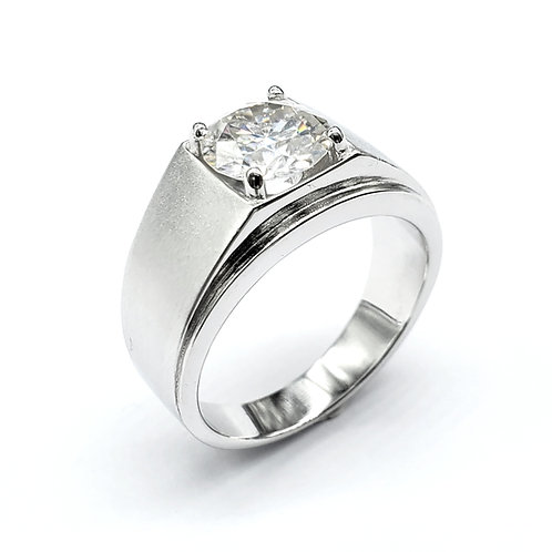 Moissanite men ring 2cts