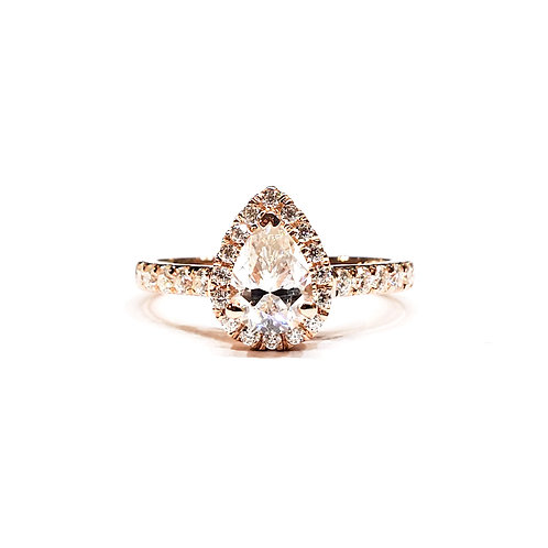 Drop-shaped Moissanite Ring 1.3ctw