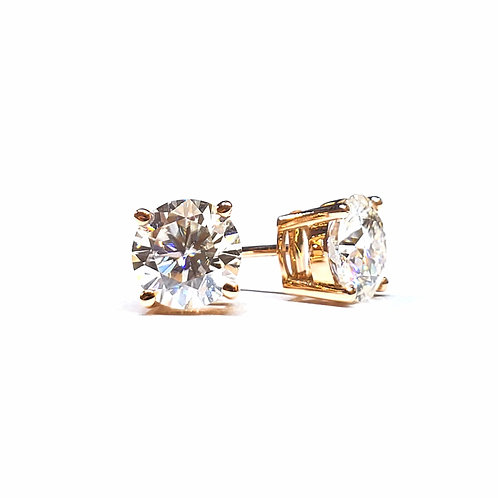 Moissanite rose gold earrings 2ctw