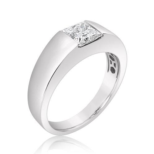 Square Moissanite Men's Ring 1ct