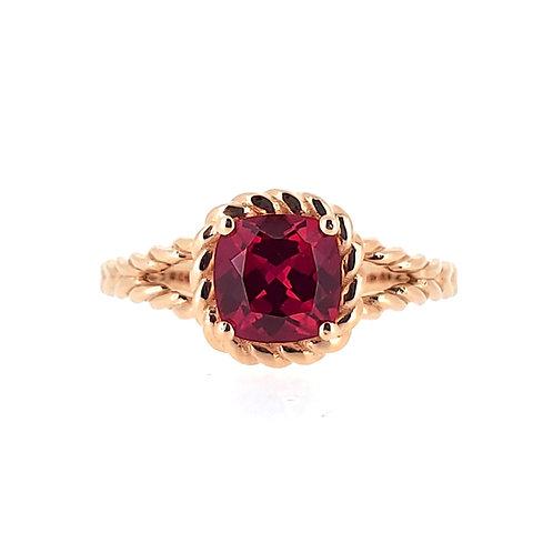 墊形培育紅寶石戒指1.4卡