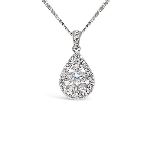 Moissanite Necklace 1.3 ctw
