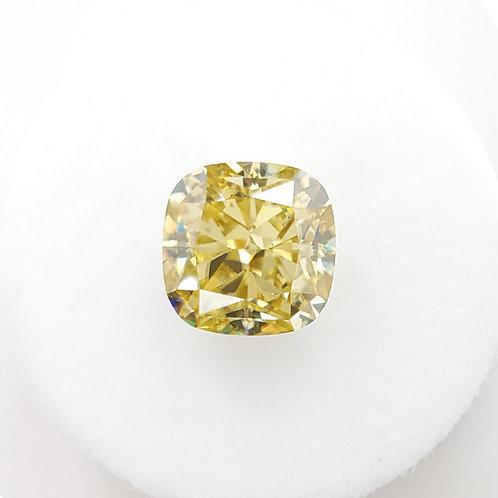 黃色墊形莫桑石(3卡)