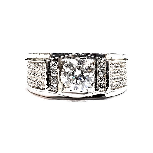 Moissanite Men Ring 1.5ctw
