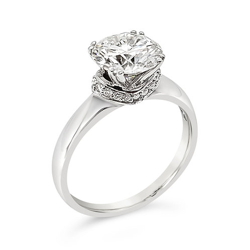 Moissanite ring 2.1ctw
