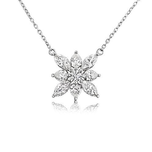 Moissanite necklace 1.9ctw