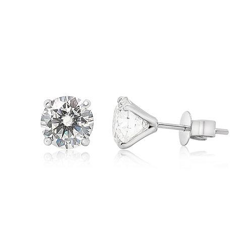 Moissanite 18K earrings 0.3 to 2cts