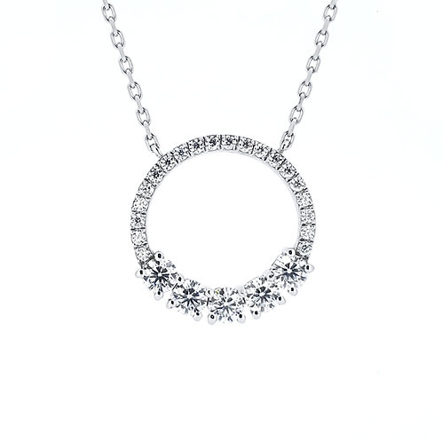 Moissanite necklace 0.7ctw