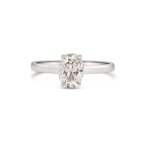 Oval Moissanite Ring 0.8ct
