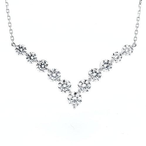 Moissanite necklace 5.8ctw