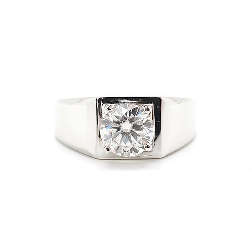Moissanite men ring 1ct