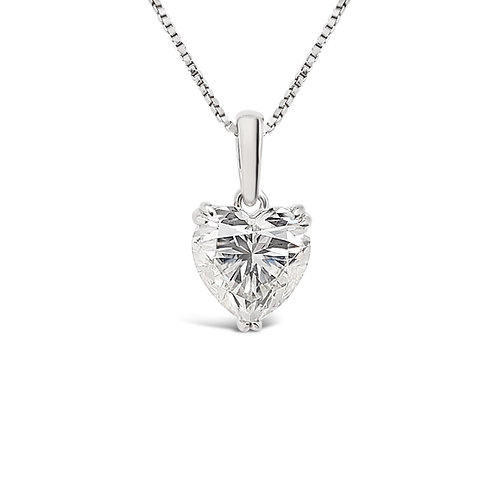 Heart-shaped Moissanite Necklace 1.5cts