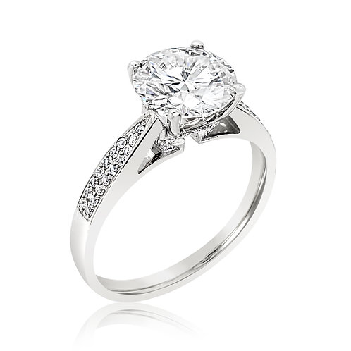 Diamond 18K ring setting