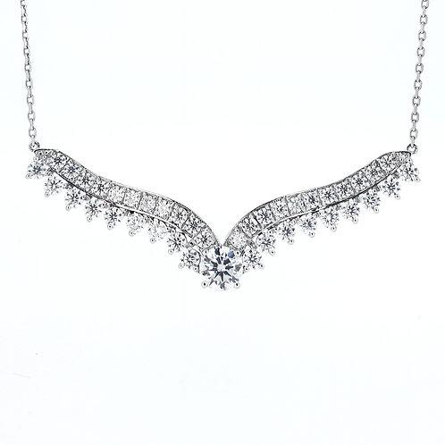 Moissanite necklace 3.1ctw