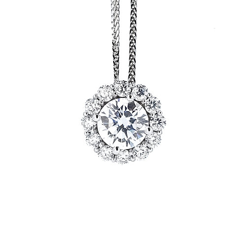 Moissanite necklace 1.3ctw