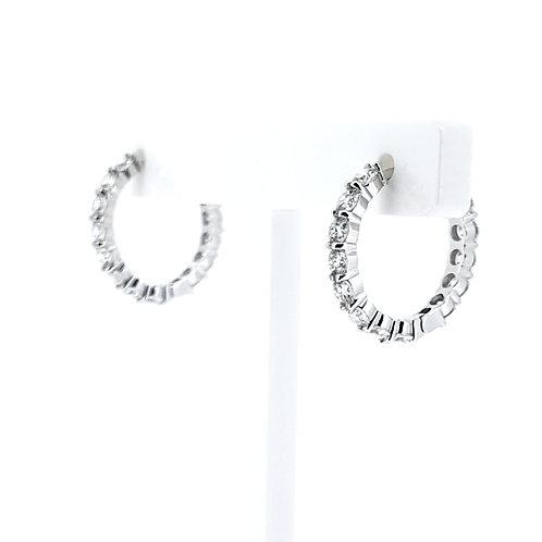 莫桑石18K耳環(共0.8卡)