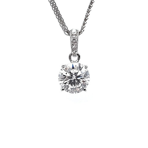 Moissanite necklace 0.83ctw