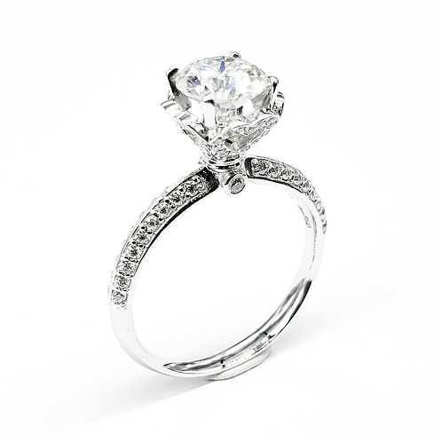 Moissanite Ring 1.3ctw