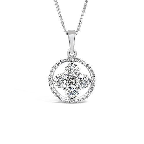 Moissanite necklace 1.8ctw