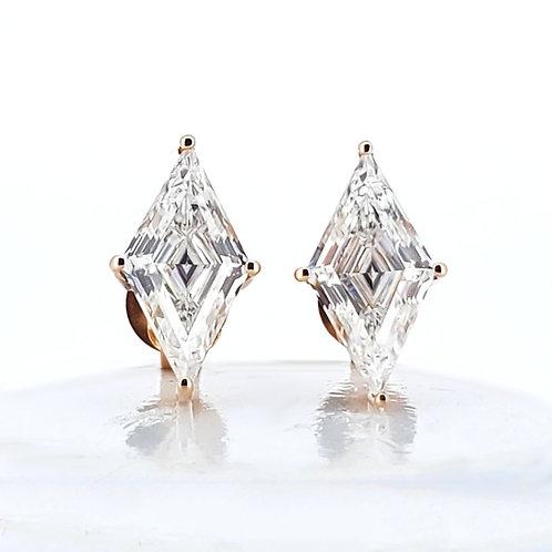 Rhombus Moissanite Earrings 1.6ctw