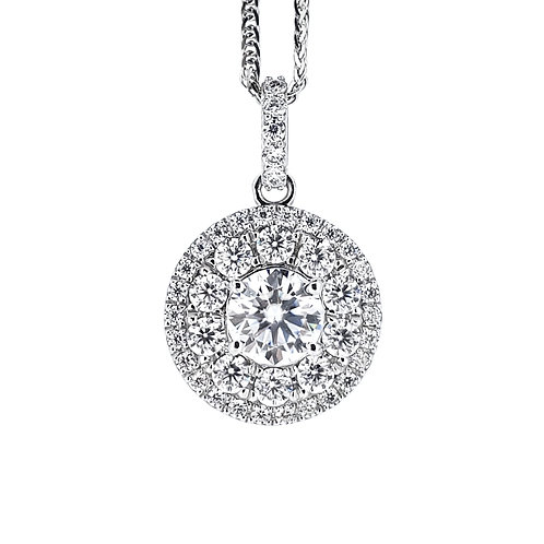 Moissanite necklace 1ctw