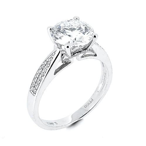 Moissanite Ring 2.2ctw