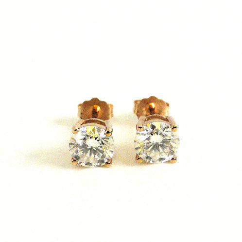 Moissanite Earrings 1.6ctw