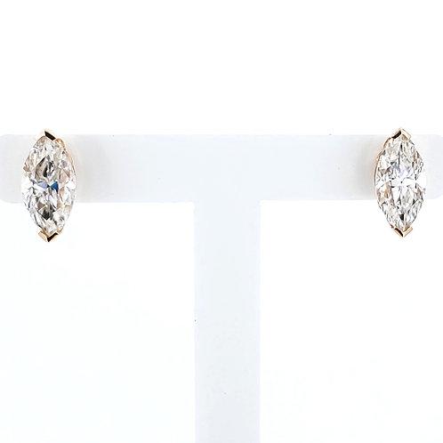 Marquise Moissanite Earrings 2.4ctw