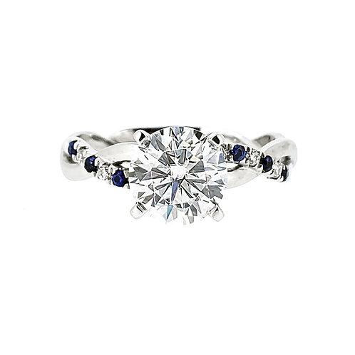 Moissanite Sapphire Ring 1.4ctw