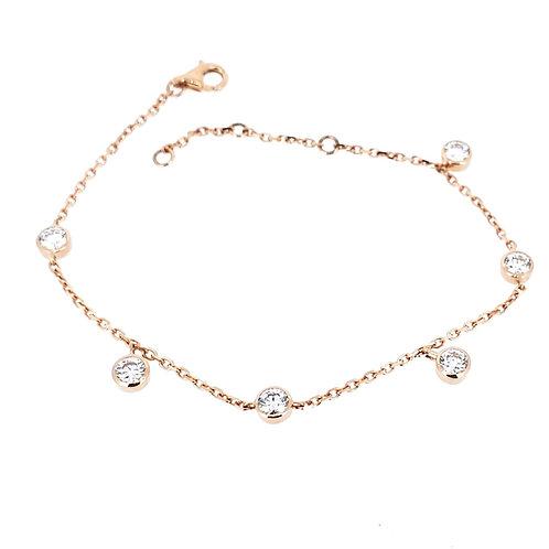 Moissanite rose gold bracelet 1.2ctw