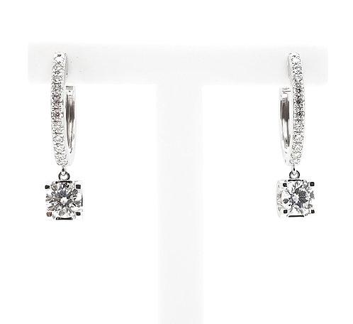 Moissanite earrings 1.2ctw