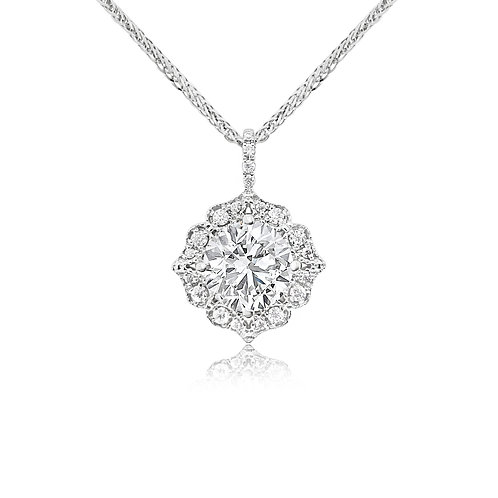 Moissanite 18K Necklace 1.1ctw