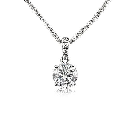 Moissanite necklace 0.83ctw