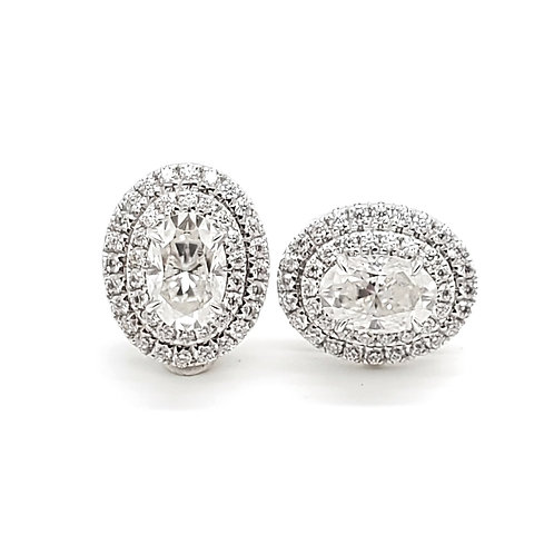 Oval Moissanite Earrings 1.4ctw