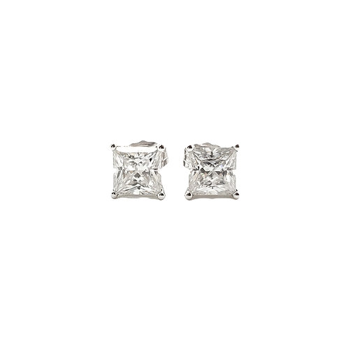Princess cut Moissanite Earrings 1ctw