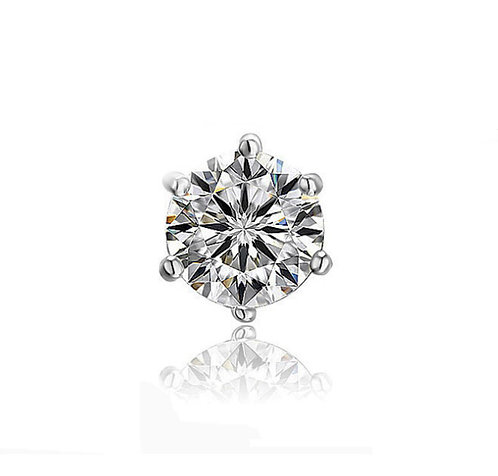 Single Moissanite 6-prong earring (0.5ct-1.5cts)