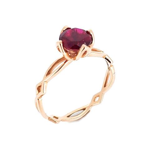 Lab-grown ruby ring 0.9ct