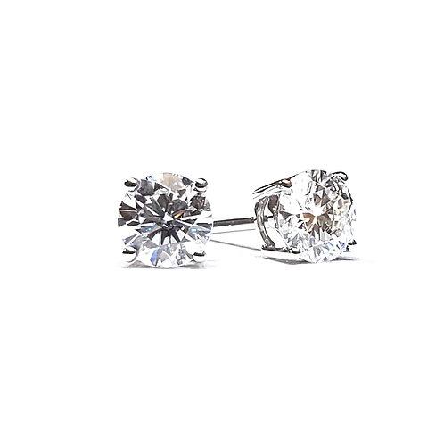 Moissanite four prongs earrings 1ctw