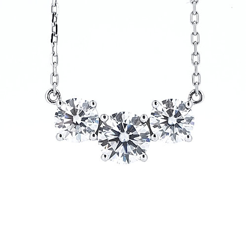 Moissanite necklace 1.8ctw