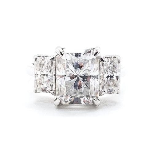Radiant Moissanite Ring 3.6ctw