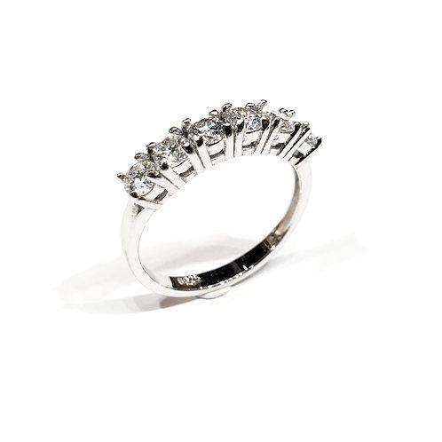 莫桑石戒指(共0.5卡)