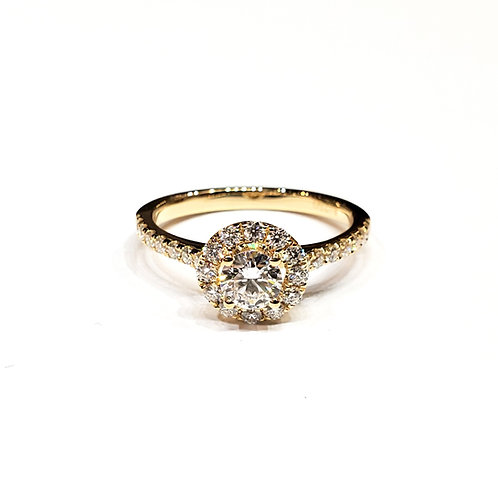 莫桑石黃金戒指(共0.7卡)