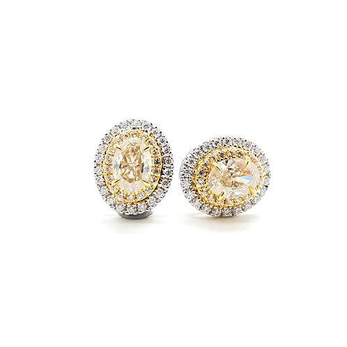 Oval Yellow Moissanite Earrings (1.4ctw)